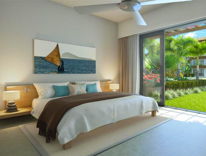 Three-Bedroom Apartment with Pool View