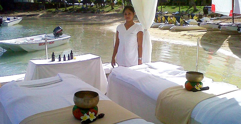 Private & Romantic Couple Spa Massage at Sea