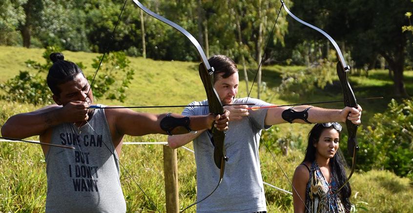 Archery Trail at Lavilleon Adventure Park