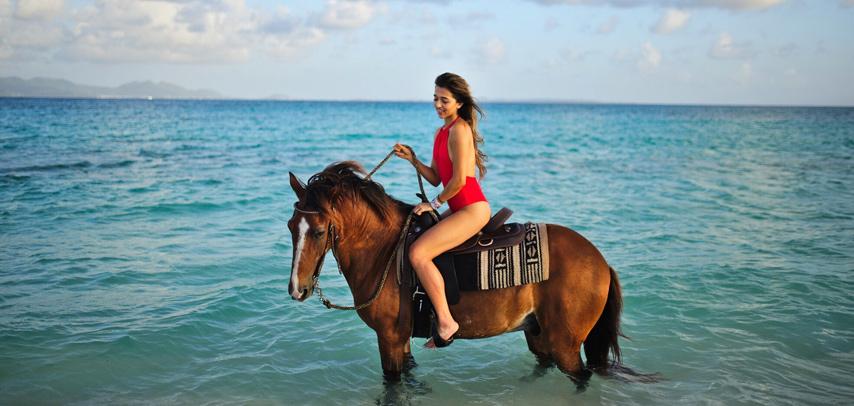 Amazing Horse Riding On The Riambel Beach