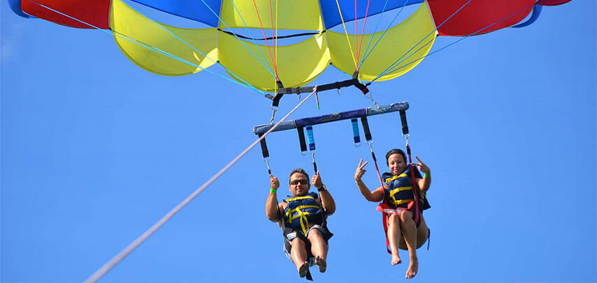 Parasailing at Belle Mare