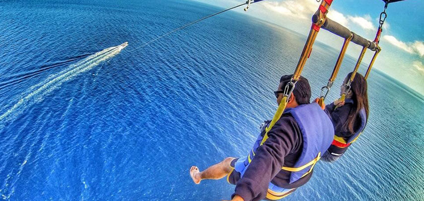 Single or Double Parasailing at Ile aux Cerfs