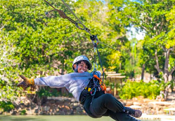 Zipline + Lunch & Water Activities Pack at Le Parc Loisirs de Gros Cailloux