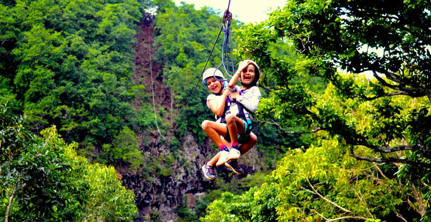 Zipline & Nepalese Bridge at Lavilleon Natural Forest