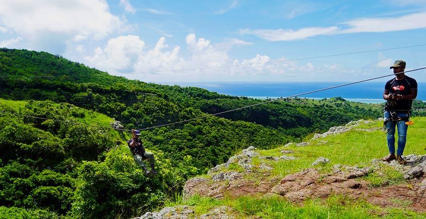 Zipline (Tyrolienne) Adventure In Rodrigues