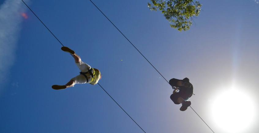 Ziplining at Domaine de L'Etoile