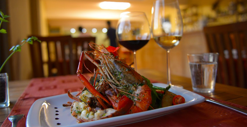 Deluxe Seafood Meal at Amigo Restaurant